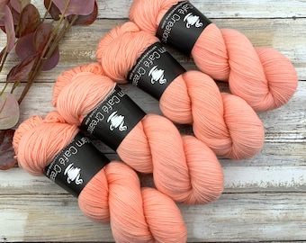 Fingering Weight | Grapefruit | Hand Dyed Yarn | Non-Superwash Merino Wool