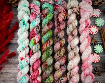 ONE-PLY Mini Skein Set | Christmas Candy Collection