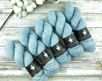Fingering Weight | Powder | Hand Dyed Yarn | Non-Superwash Merino Wool