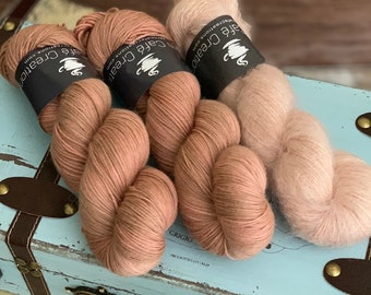 Hand-Dyed Yarn | Merino Wool and Kid Mohair and Silk | Birds of a Feather Kit | Manicure