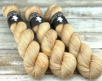 Silver Stellina | Acorn | Hand Dyed Yarn | Superwash wool