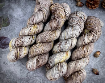 Worsted Weight | Hazelnut | Hand Dyed Yarn | Superwash wool