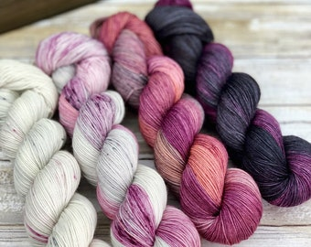 Hand-Dyed Yarn | Merino Wool | Winter Wine Kit