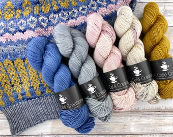 Jupiter Crop Kit | Size 7-10 | Superwash Merino Wool | Seven Skein Kit