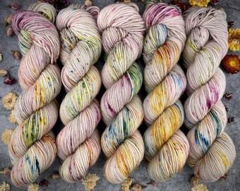 Polwarth Fingering Weight | Peach Blossom | Hand Dyed Yarn | Superwash Polwarth