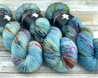 85/15 SW Merino/Wool Sock Weight| Blooming | Hand Dyed Yarn | Superwash wool
