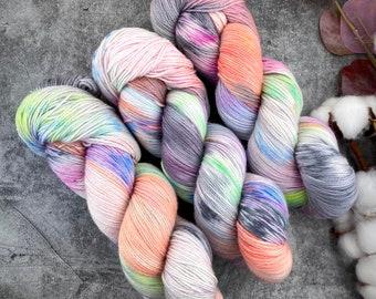 Fingering Weight | Purple Pie Man | Hand Dyed Yarn | Non-Superwash Merino Wool