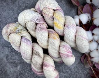 Fingering Weight | Dried Rose Petals | Hand Dyed Yarn | Non-Superwash Merino Wool