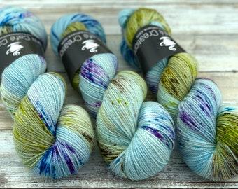 2-ply Fingering Weight | Sky Dancer | Hand Dyed Yarn | Superwash Merino Wool
