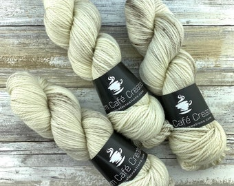 Aran Weight  | Eggnog | Hand Dyed Yarn | Superwash Merino Wool