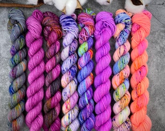 BISCOTTI Sock 4-ply Mini Skein Set   Rainbow Dash Collection