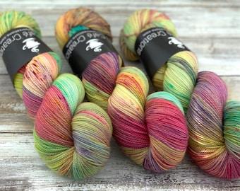 2-ply Fingering Weight | Garden Party | Hand Dyed Yarn | Superwash Merino Wool