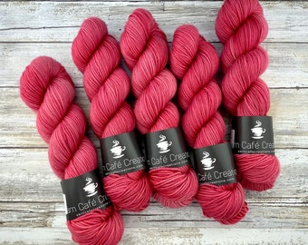 Americano DK Weight | 100% SW Merino Wool | Chili Pepper | Hand Dyed Yarn | Superwash wool