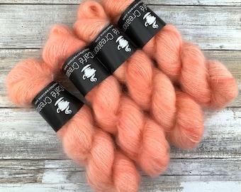 Grapefruit | Mohair Silk | Hand Dyed Yarn