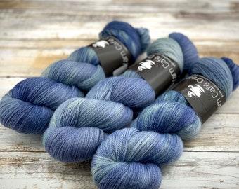 Saltwater | Non Superwash Lace Weight | Hand Dyed Yarn |