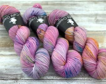 2-ply Fingering Weight | Unicorn | Hand Dyed Yarn | Superwash Merino Wool