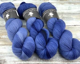 Non-Superwash Merino Wool One Ply | Undercurrent | Fingering Weight | Hand Dyed Yarn