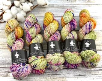 Biscotti DK Weight | 85% SW Merino Wool/15 Nylon | Apple Dumplin | Hand Dyed Yarn | Superwash