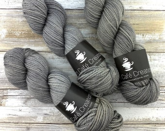 Worsted Weight | Oatmeal | Hand Dyed Yarn | Superwash wool