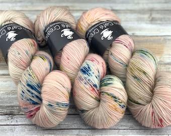100% Merino SW Fingering Weight | Peach Blossom | Hand Dyed Yarn | Superwash wool