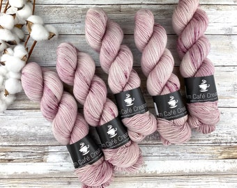 Silver Stellina | Ballerina | Hand Dyed Yarn | Superwash wool