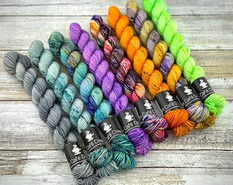 BISCOTTI Sock 4-ply Mini Skein Set | 2020 Halloween Horror Collection