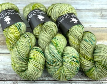 DK Weight Wool/Nylon Blend | Lily Pad | Hand Dyed Yarn | Superwash Wool