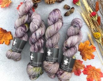 Merino/Mohair Blend SW Fingering Weight   T. N. Honey   Hand Dyed Yarn   Superwash wool