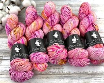 Polwarth Fingering Weight | Raspberry Torte | Hand Dyed Yarn | Superwash Polwarth