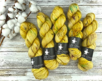 Merino/Mohair Blend SW Fingering Weight | Golden Delicious | Hand Dyed Yarn | Superwash wool