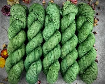 100% Merino SW Fingering Weight | Basil | Hand Dyed Yarn | Superwash wool