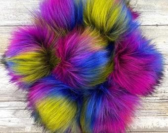 Carnival | Pom Pom | Snap on Pom Pom | Faux Fur Pompom