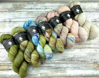 Find Your Fade Kit | CACTUS | Superwash Merino Wool | Seven Skein Kit