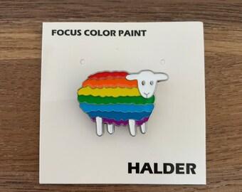 Enamel Pin | Rainbow Sheep |
