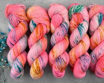 Biscotti DK Weight | 85% SW Merino Wool/15 Nylon | Pinkamena Diane | Pinkie Pie Collection | Hand Dyed Yarn | Superwash