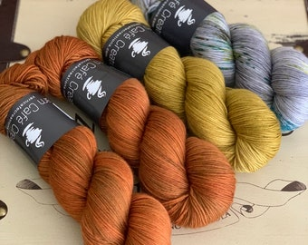 Hand-Dyed Yarn | Merino Wool | Navelli Kit Roasted Pumpkin