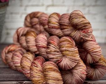 Americano DK Weight   100% SW Merino Wool   Maple   Hand Dyed Yarn   Superwash wool