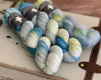 Hand-Dyed Yarn | Merino Wool and Kid Mohair and Silk | Birds of a Feather Kit | The Jersey Devil