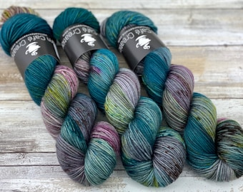 DK Weight | 100% SW Merino Wool | September Storm | Hand Dyed Yarn | Superwash wool