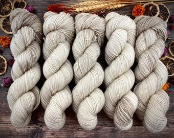 Sport Weight | 100% SW Merino Wool | COCOA | Hand Dyed Yarn | Superwash wool