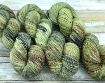 85/15 SW Merino/Wool Sock Weight| Underbrush | Hand Dyed Yarn | Superwash wool