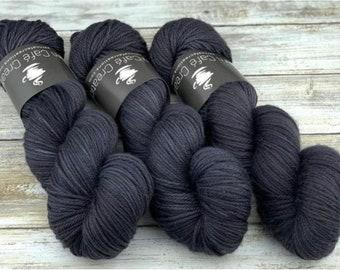 Sport Weight | 100% SW Merino Wool | Mascara | Hand Dyed Yarn | Superwash wool