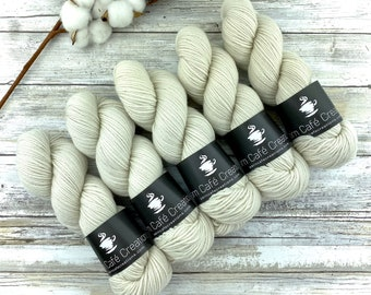 DK Weight | Ivory | Non-Superwash Merino Wool | Hand-Dyed Yarn