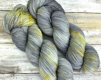 Hand-Dyed Yarn | Merino Wool | Going Gray Collection | Butterscotch