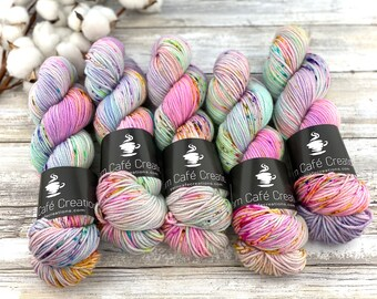 Biscotti DK Weight | 85% SW Merino Wool/15 Nylon | Angel Cake | Hand Dyed Yarn | Superwash