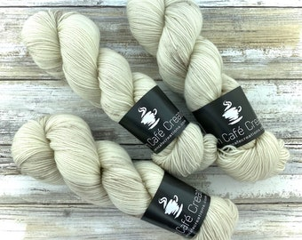 Polwarth Fingering Weight | Eggnog | Hand Dyed Yarn | Superwash Polwarth