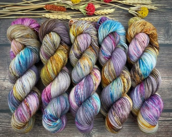 Biscotti Sock | 85/15 SW Merino/Wool Sock Weight| Boozy Hot Wassail | Hand Dyed Yarn | Superwash wool