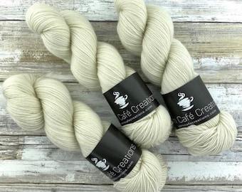 Polwarth DK Weight | 100% SW Polwarth Wool | IVORY | Hand Dyed Yarn |
