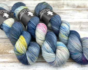 Bronze Stellina | Rainbow Storm | Hand Dyed Yarn | Superwash wool