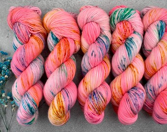 Sport Weight | 100% SW Merino Wool | Pinkamena Diane | Pinkie Pie Collection | Hand Dyed Yarn | Superwash wool